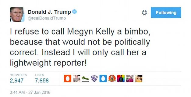 Donald Trump Megyn Kelly